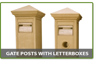 Gate Posts with Letterboxes
